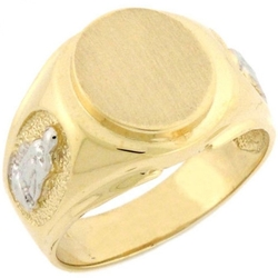 Jewelry Liquidation - Solid Gold Guadalupe Signet Mens Ring