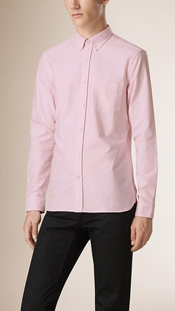 Burberry - Regular Fit Cotton Oxford Shirt