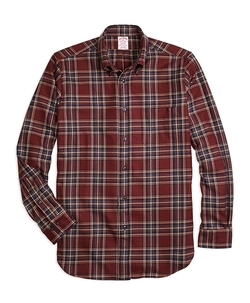 Brooks Brothers - Saxxon Wool Plaid Sport Shirt