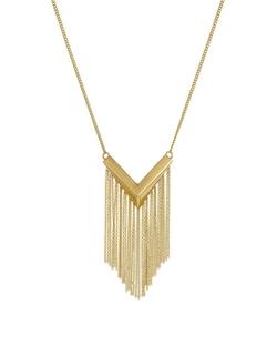 Sam Edelman - V Fringe Pendant Necklace