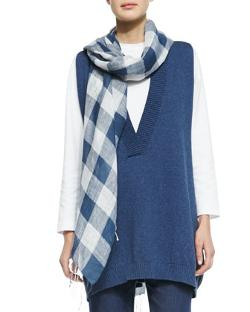 Eskandar  - Large Check Scarf