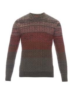 Missoni - Striped Cable Wool-Knit Sweater