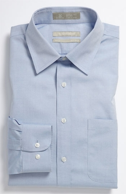 Nordstrom - Solid Pinpoint Dress Shirt