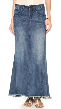 Blank Denim - Selvedge Hem Denim Skirt