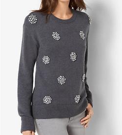 Michael Michael Kors - Embellished Wool-Blend Sweater