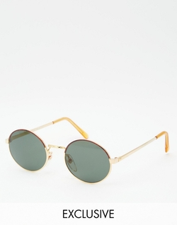 Reclaimed Vintage  - Bach Round Sunglasses