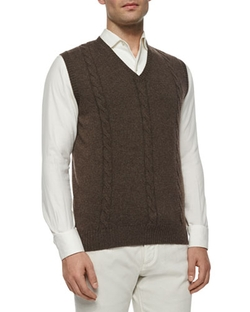 Loro Piana   - Baby Cashmere Cable-Knit Vest