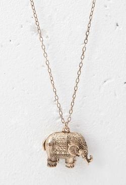Forever21 - Elephant Pendant Necklace