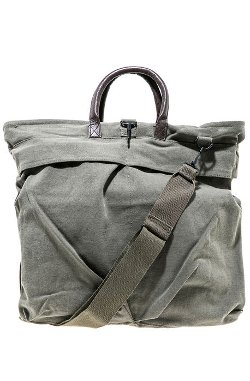 Rothco  - The Vintage Canvas Helmet Bag With Leather Handle