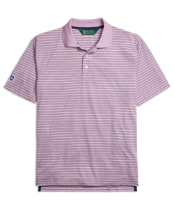 Brooks Brothers - St Andrews Links Fine Stripe Polo Shirt