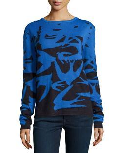 McQ Alexander McQueen  - Swallow-Print Knit Sweater