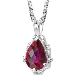 Peora - Ruby Pendant Necklace