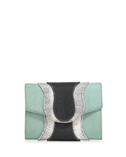 Khirma - Jolie Mixed-Media Clutch Bag