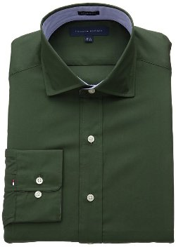 Tommy Hilfiger  - Regular Fit Solid Bright Dress Shirt