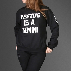 Kanye West - Yeezus Is A Gemini Black Jumper