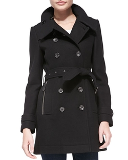 Burberry Brit  - Daylesmoore Wool-Blend Zip-Pocket Trench Coat