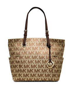 Michael Michael Kors  - East West Signature Jacquard Tote Bag