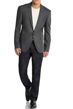 Calvin Klein Collection  - Crosby Pure Wool Herringbone Slim-Fit Blazer