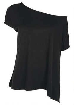 Alloy - Extended Length Off-Shoulder Tee Shirt