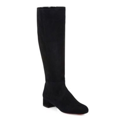 Christian Louboutin - Liliboot Suede Knee-High Boots