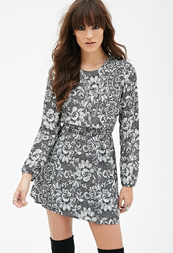 Forever 21 - Lace Print Dress