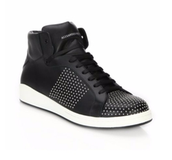 Alexander McQueen - Studded Leather High-Top Sneakers