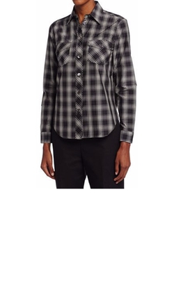Michael Kors - Collection Plaid Patch-Pocket Shirt