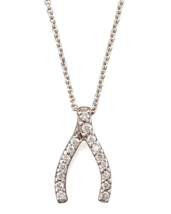 Roberto Coin  - Pave Wishbone Necklace
