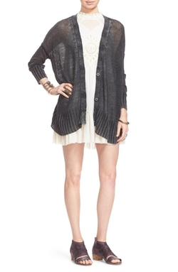 Free People  - Vee Vee Sheer Linen Cardigan