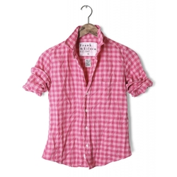 Frank & Eileen - Pink On Pink Check, Italian Flannel Shirt