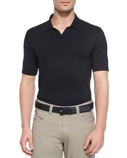 Armani Collezioni  - Solid Short-Sleeve Polo Shirt