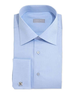 Stefano Ricci - Basic French-Cuff Solid Dress Shirt