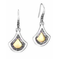 John Hardy - Naga Gold & Silver Drop Earrings