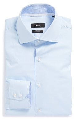 Hugo Boss  - Regular Fit Easy Iron Solid Dress Shirt