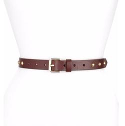 Rebecca Minkoff  - Dome-Stud Flat Strap Leather Belt