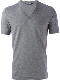 Dolce & Gabbana - Classic V-Neck Shirt