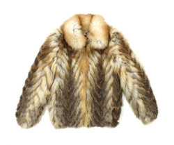 Bergama - Natural Feathered Red Fox Fur Coat