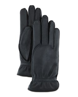 Loro Piana  - Cashmere Lining Leather Gloves