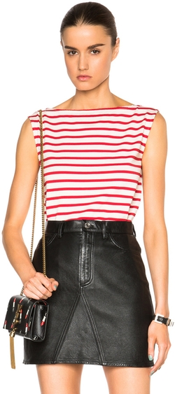 Saint Laurent - Distressed Stripe Tank