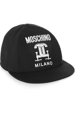 Moschino  - Printed Cotton-Piqué Baseball Cap