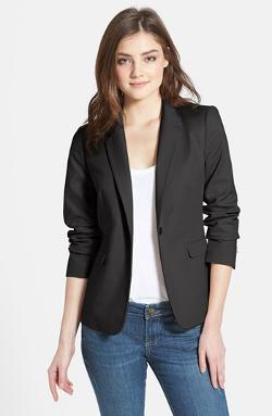 VINCE CAMUTO - Stretch Cotton Single-Button Blazer