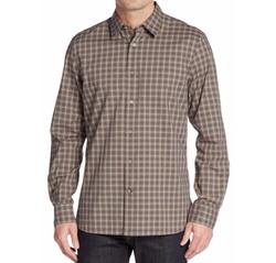 John Varvatos Star USA  - Regular-Fit Plaid Cotton Sportshirt
