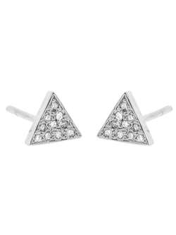 Jennifer Meyer - Tiny Diamond Triangle Studs
