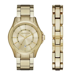 Claiborne - Gold-Tone Watch and Bracelet Set