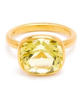 Marie Helene De Taillac  - Gold Citron Quartz Ring