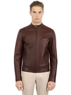 Larusmiani - Bonded Leather Biker Jacket
