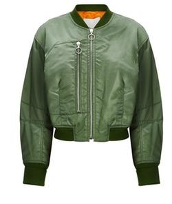 3.1 Phillip Lim  - Khaki Padded Bomber Jacket