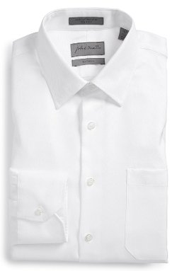 John W. Nordstrom - Classic Fit Herringbone Dress Shirt