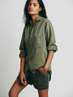 Free People - Shades Silk Shirt