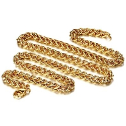JewelryWe - Wheat Link Sunflower Cluster Chain Necklace
